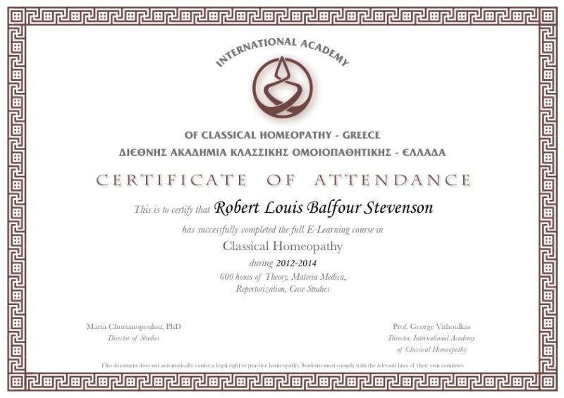 homeopati sertifika