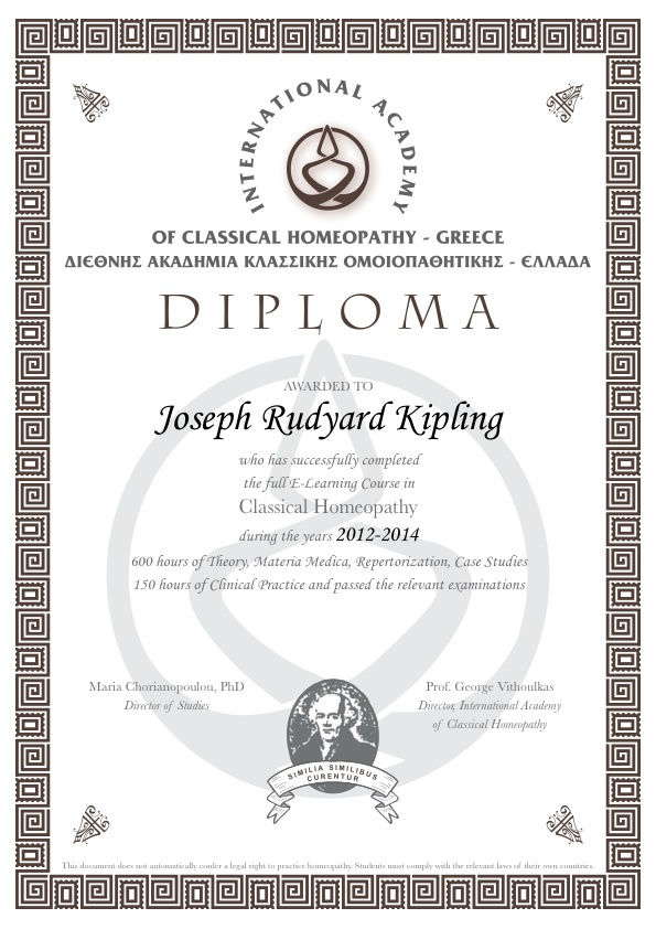homeopati diploma